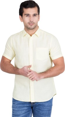 Red Tape Men's Solid Casual Yellow Shirt at flipkart