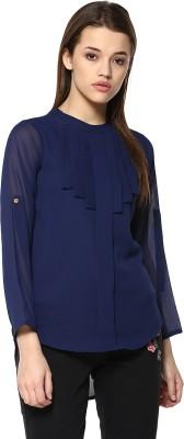 MAYRA Casual Full Sleeve Solid Women Dark Blue Top MAYRA Women's Tops
