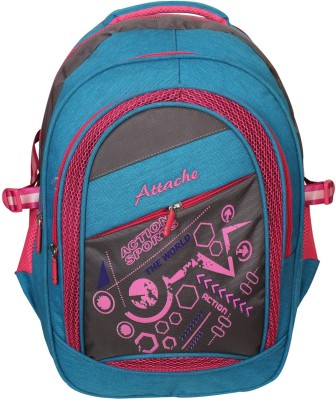 Attache Sporty School Bag (Blue & Pink) 30 L Backpack(Multicolor)  available at flipkart for Rs.999