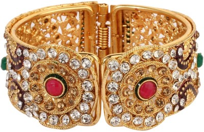 Royal Jewellery Alloy Diamond Gold-plated Bracelet Set at flipkart