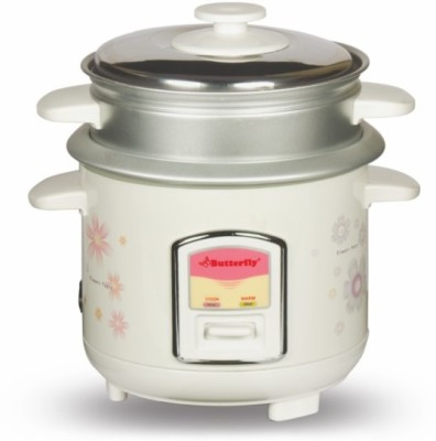 Butterfly KRC-08 Electric Rice Cooker(0.6 L, Cream) at flipkart