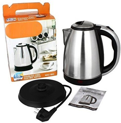 Wonder World ® 1.7L Stainless Steel Quick Heating Tea - Water Boiler Heater Pot Electric Kettle(1.8 L, Silver)