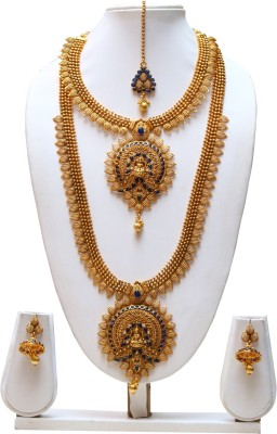 Swarajshop Copper Jewel Set(Gold, Blue) at flipkart