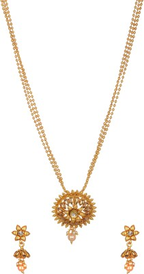 Reeti Fashions Multi Layer Beaded Chain with Pendant set Copper Pendant Set at flipkart