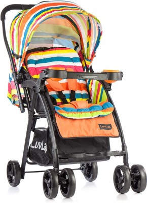 LuvLap Joy Baby Stroller - Printed Orange(3, Orange) at flipkart