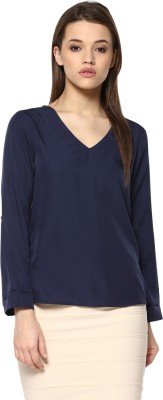 Mayra Casual Full Sleeve Solid Women Dark Blue Top