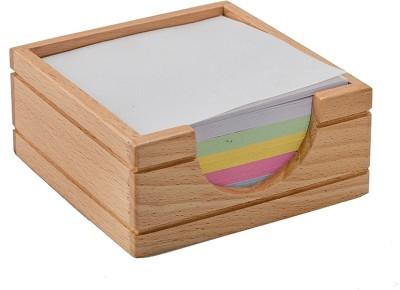 Kebica 1 Compartments Plastic Memo Holder(Transparent)