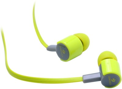 Zebronics EM 850 with mic Wired Headset with Mic(Green, In the Ear) 1