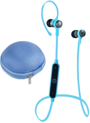 iZED Treble full Square Earphones supports all devices, ultra clear voice, high bass, trebble with 7 m of range. Bluetooth Headset with Mic(Blue, In the Ear) 1