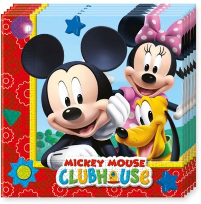 Disney Mickey Mouse Multicolor Napkins(20 Sheets)