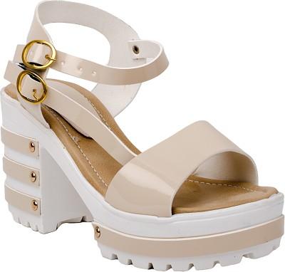 66% OFF on kamsun Women White Heels on