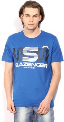 Slazenger Printed Men's Round Neck Blue T-Shirt