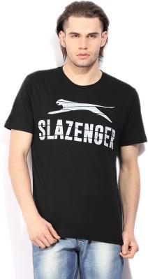 Slazenger Printed Men's Round Neck Black T-Shirt