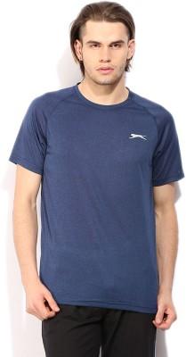 Slazenger Solid Men's Round Neck Blue T-Shirt