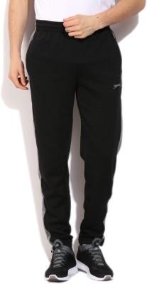 Slazenger Solid Men's Black, Grey Track Pants