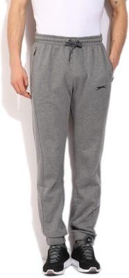 Slazenger Solid Men's Grey Track Pants