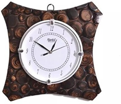 Craftspoint Analog 28 cm X 3 cm Wall Clock(Brown, With Glass)