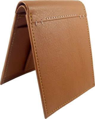 Accezory Men Casual Brown Artificial Leather Wallet 4 Card Slots