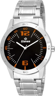 Gionee Round Black Round Dial Analog Semi Formal Wrist Watch  - For Men