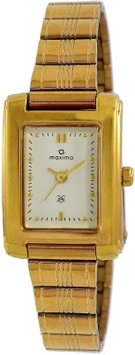 Maxima 19547CPLY Analog White Dial Women's Watch