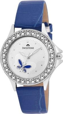 SWISSTONE VOGLR501-WHT-BLU  Analog Watch For Women