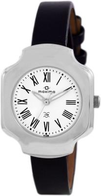 Maxima Analog White Dial Women's Watch, 41230LMLI