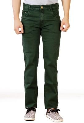 Par Excellence Regular Men's Green Jeans