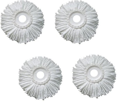 JRDS Set of 4 360 Rotating Magic Refills Wet & Dry Mop(White)  available at flipkart for Rs.339