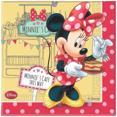 Disney Minnie Mouse 2-Ply Multicolor Napkins(20 Sheets)