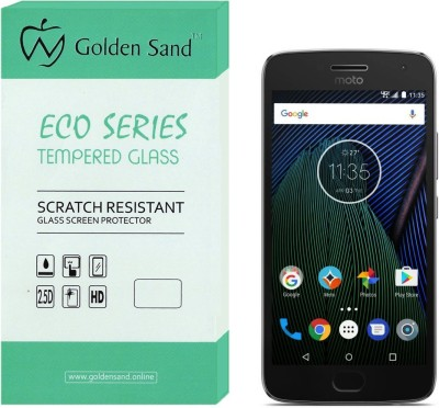 Golden Sand Tempered Glass Guard for Motorola Moto G5(Pack of 1)