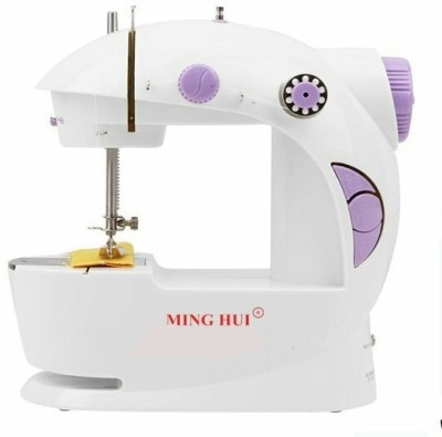 GS Portable & Compact 4 in 1 Mini Adapter Foot Pedal Electric Sewing Machine( Built-in Stitches 1)