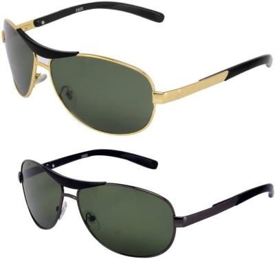 A K Daller Fashion Aviator Sunglasses(Blue)