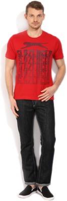 Slazenger Printed Men's Round Neck Red T-Shirt