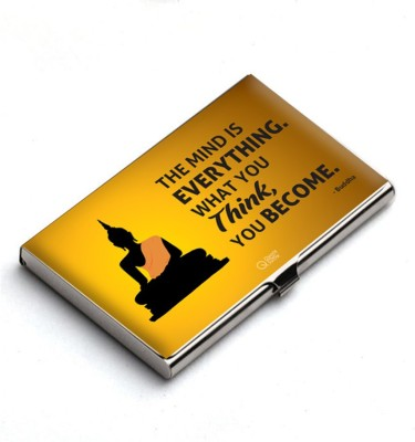 QuoteSutra 10 Card Holder(Set of 1, Yellow)