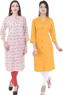 Fab Attire Casual Printed Women Kurti(Pack of 2, Multicolor)