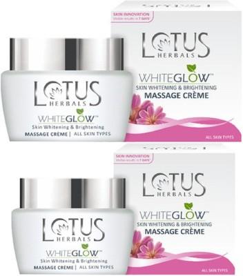 Lotus White Glow Skin Whitening & Brightening Massage Creme(120 g)