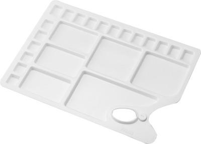 Kebica Plastic 18 Paint Wells Palettes(Set of 1, White)