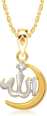 VK Jewels Allah Gold-plated Cubic Zirconia Alloy Pendant