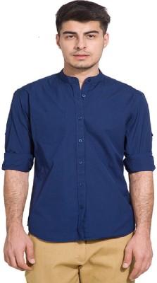 Urbano Fashion Men's Solid Casual Mandarin Shirt