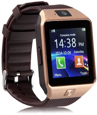 Mectronix DZ09 Fitness Watch With Sim And Memory Card(16GB) Supported Brown Smartwatch(Brown Strap Regular)