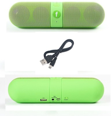Jiyanshi Alcael Idol X Portable Bluetooth Mobile/Tablet Speaker(Green, Stereo Channel)
