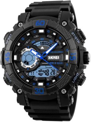 Skmei 1228- BLU Sports Analog-Digital Watch For Boys