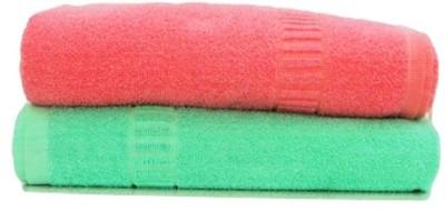 D R RETAIL Cotton 400 GSM Bath Towel(Pack of 2, Multicolor) at flipkart