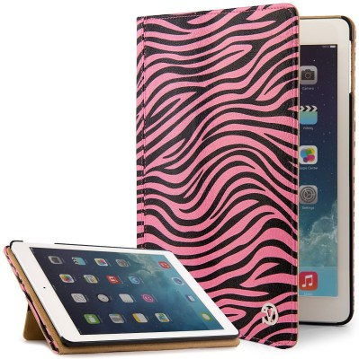 VanGoddy Book Cover for Apple iPad Air 2 9.7 inch(Pink, Black)