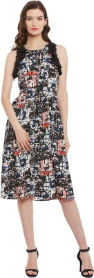 Athena Women Fit and Flare Multicolor Dress at flipkart