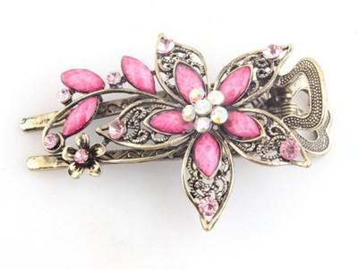 GELILIA Exotic Crystal Studded Hair Clip(Pink) at flipkart