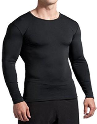 Bloomun Solid Men & Women Round Neck Black T-Shirt
