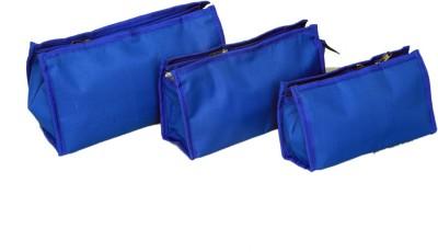 Kuber Industries Travel organiser,Shaving Kit,Toiletry Bag Set of 3 pcs in waterproof Material Travel Toiletry Kit Blue