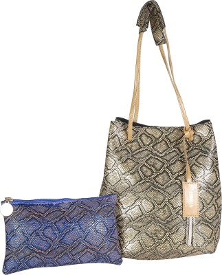 Horra Women Gold Messenger Bag at flipkart