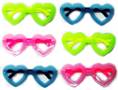 842261dff8 Ziggle Neon googles party prop party fun googles specs Return gift Party  Mask(Multicolor
